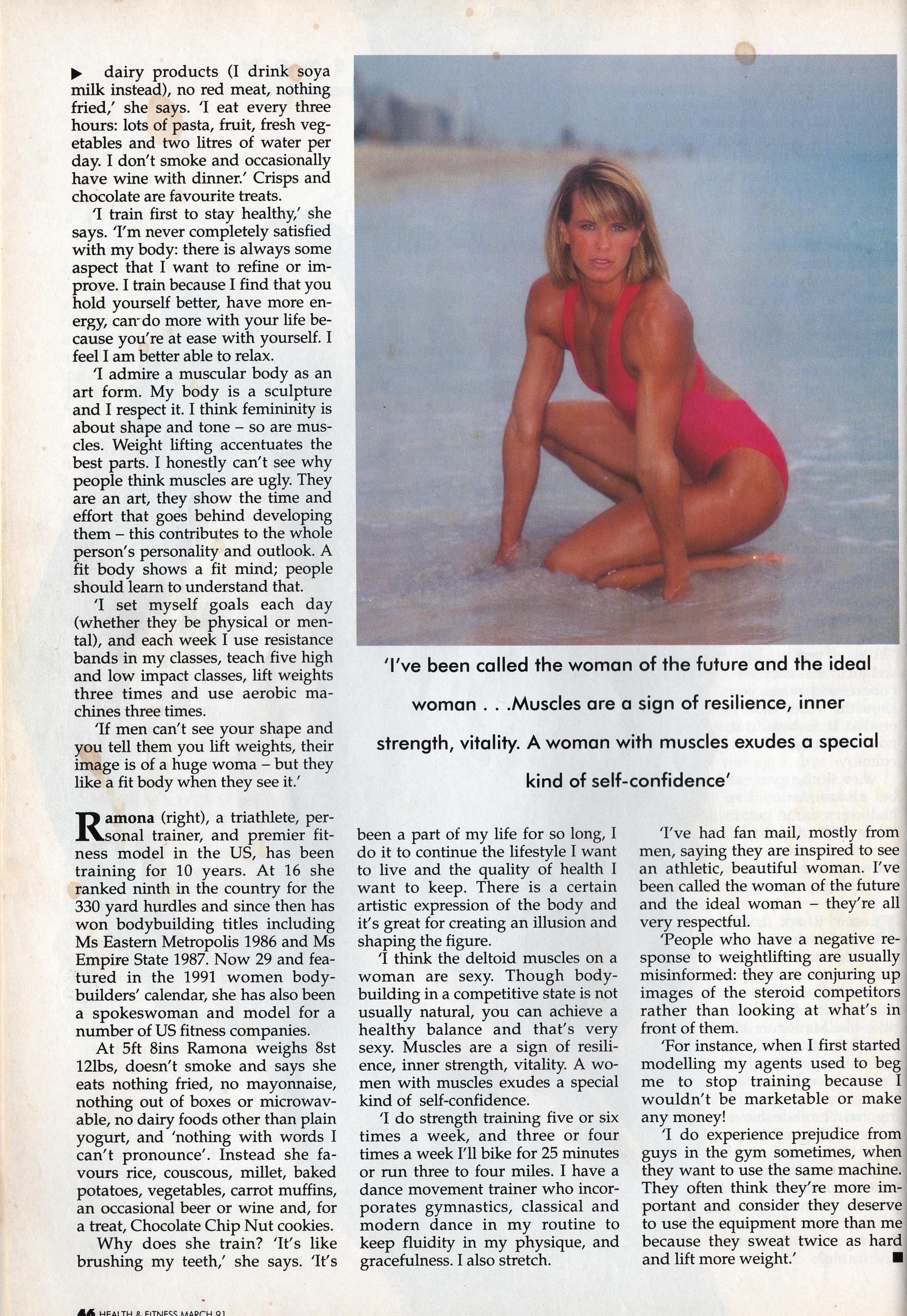 Ru-tee Block - Health & Fitness Magazine March 1991 - Women of Substance Interview - Page 46